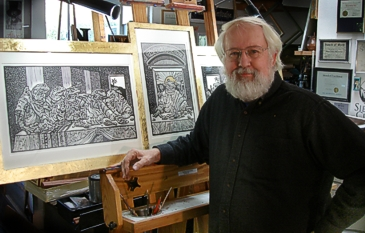 Rik in his Studio